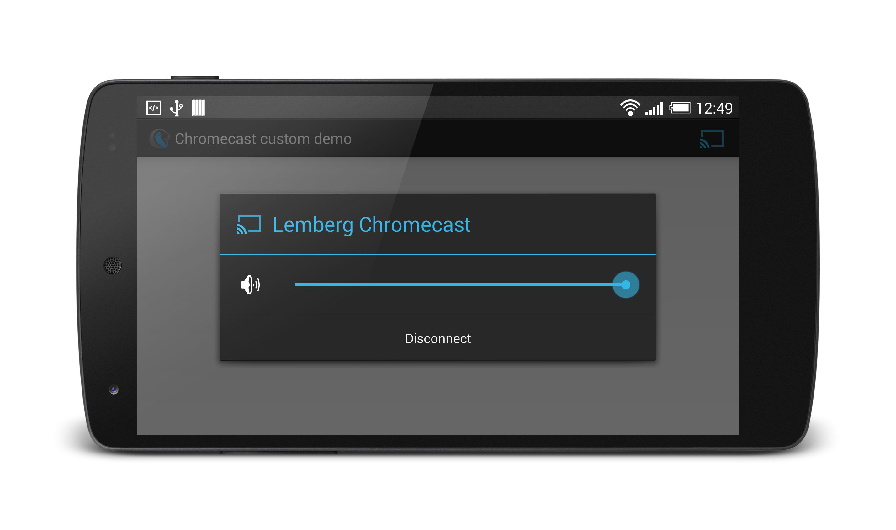 Connecting Chromecast device. Chromecast Android tutorial by Lemberg