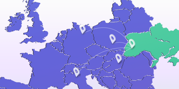 Map of Europe: Neashoring to Ukraine